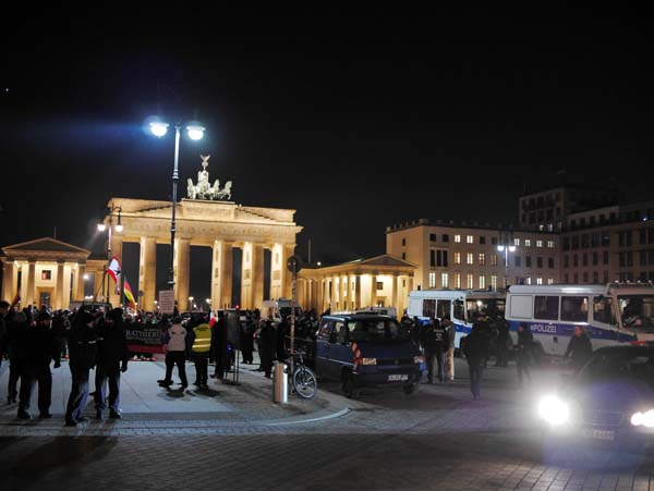 Demonstration am Brandenburger Tor